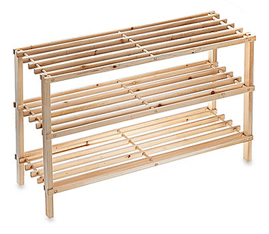 "#HW273 Wooden 3-Tier Shoe Rack- Nature 29Wx10Dx19""H (case pack 8 pcs)"