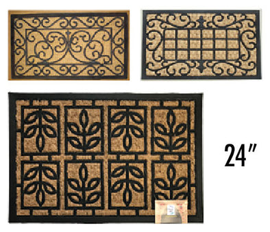 "#IND-2020 PP Panama Non Brush Moulded Door Mat Rectangular 24"" (case pack 10 pcs)"