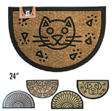 "#IND-2025 PP Panama Non Brush Moulded Door Mat Halfmoon 24"" (case pack 10 pcs)"