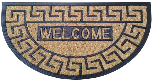 "#IND-2085 Coir Door Mat Semi-circular 18""x30"" (case pack 10 pcs)"