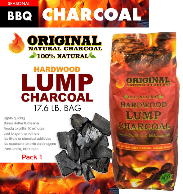 #Lump - Big Natural Hardwood Lump Charcoal (case pack 1 pc)