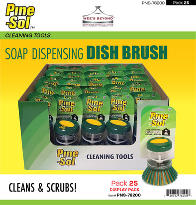 #PNS-76200 Pine-Sol Soap Dispensing Dish Brush (case pack 25 pcs)