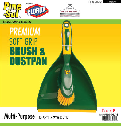 #PNS-76216 Pine-Sol Premium Grip Iron Brush & Dustpan (case pack 6 pcs)