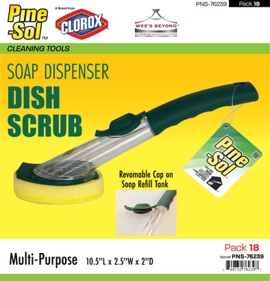 #PNS-76239 Pine-Sol Soap Dispenser Dish Scrub (case pack 18 pcs)