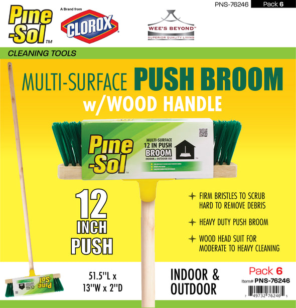 #PNS-76246 Pine-Sol Multi-Surface Push Broom (case pack 6 pcs)
