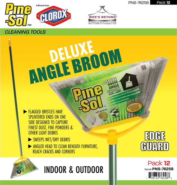 #PNS-76258 Pine-Sol Deluxe Angle Broom (case pack 12 pcs)