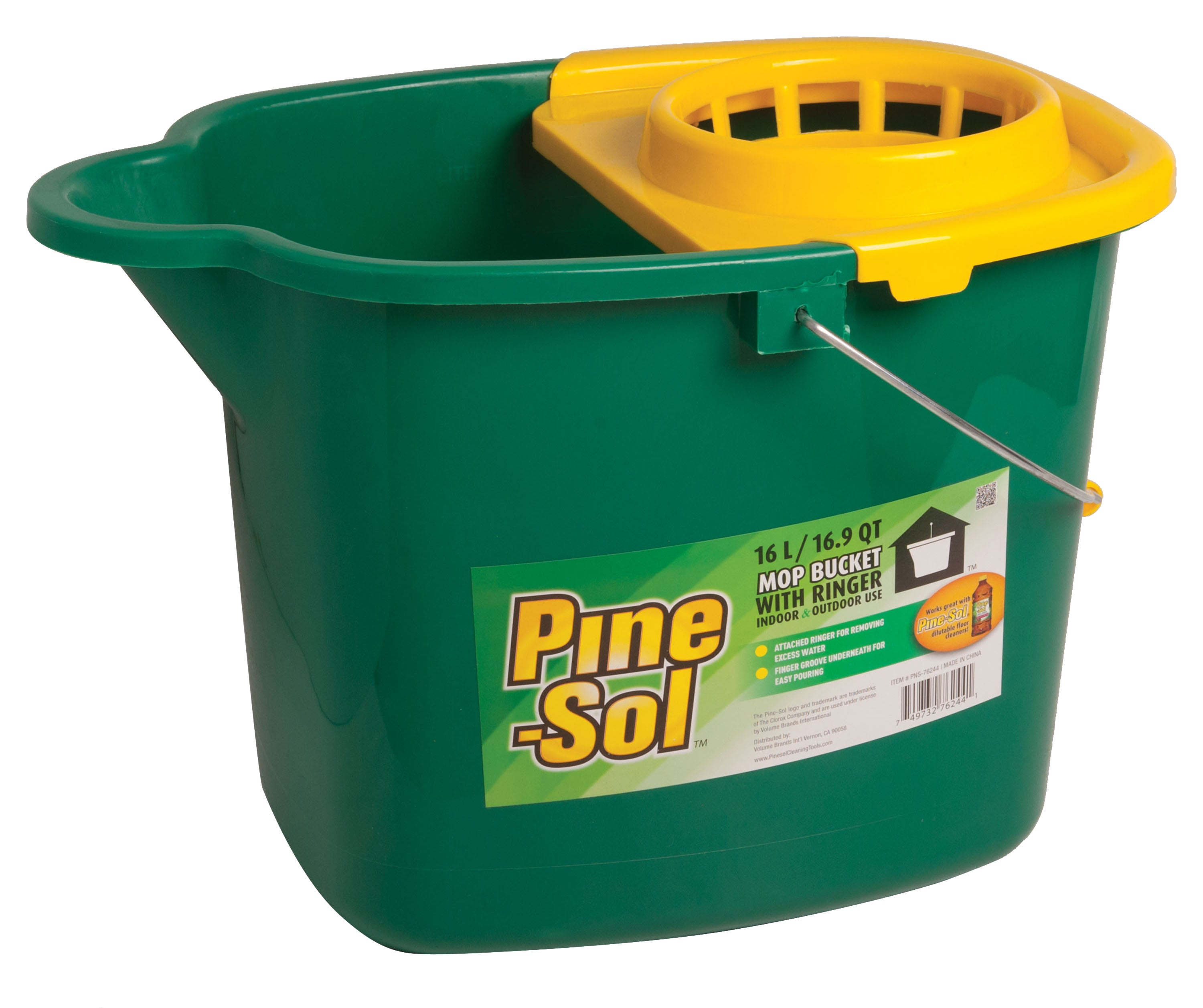 Brand new PNS-76244 Pine-Sol Plastic Mop Bucket 16L w/Ringer (case pack 6  VI74