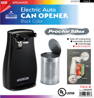 #R75217F Electric Auto Can Opener - Black (case pack 2 pcs)