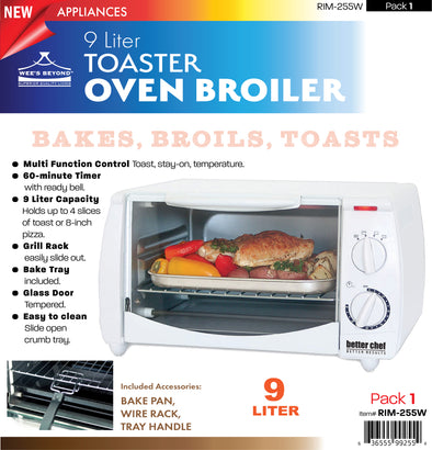 #RIM-255W Toaster Oven Broiler- White (case pack 1 pc)