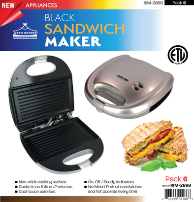 #RIM-286B Sandwich Maker (case pack 6 pcs)