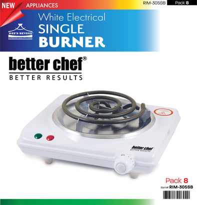 #RIM-305SB Electrical Single Burner White (case pack 8 pcs)