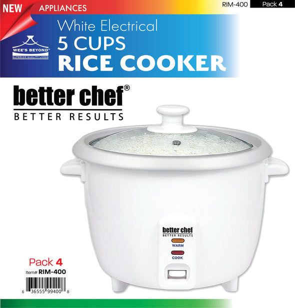 #RIM-400 Better Chef 5 Cups Rice Cooker (case pack 4 pcs)