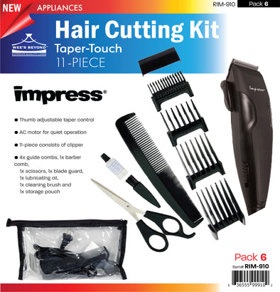 #RIM-910 Impress 11-pc Taper-Touch Hair Cutting Kit (case pack 6 pcs)