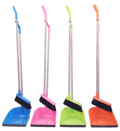 #Y-27635 Broom and Foldable Dustpan Set (case pack 24 pcs)