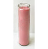 "#TLC9-PNK 9"" Glass Jar Candles- Pink (case pack 12 pcs)"