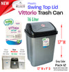 #W01-1404-GRY Vittorio Trash Can Medium 16 Liter Grey (case pack 12 pcs)