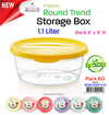 #W02-1007-CO Trend Round 1.1 LT Storage Box (case pack 60 pcs)