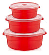 #W02-1516 Round Storage Microfresh Pot 3-pc Set (case pack 12 pcs)