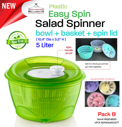 #W02-1600 Salad Spinner 5 Lt. (case pack 8 pcs)