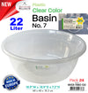 #W03-1180-CO Clear Color Basin 21 Lt (case pack 24 pcs)
