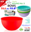 #W03-1254-CO Round Bowl 5 Lt (case pack 48 pcs)