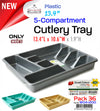 #W04-1200 Plastic Cutlery Tray (case pack 36 pcs)
