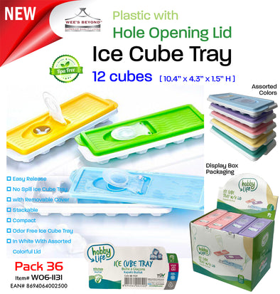 #W06-1131 Ice Cube Tray with Lid (case pack 36 pcs)