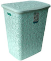 #W08-1075-SF.GRN Lace Style Laundry Hamper 57 Liters - Soft Green (case pack 2 pcs)