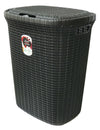 #W08-1076-BLK Knit Style Laundry Hamper 55 Liters - Black (case pack 2 pcs)