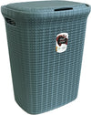 #W08-1076-TL.GRN Knit Style Laundry Hamper 55 Liters - Teal Green (case pack 2 pcs)