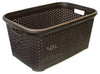 #W08-1094-DK.BRW Rattan Style Laundry Basket 50 Liters - Dark Brown (case pack 12 pcs)