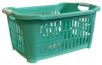 #W08-1104-GRN Rectangle Laundry Basket 40 Liters - Green (case pack 12 pcs)