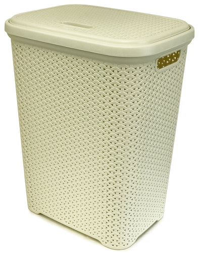 #W08-1106-IVY Rattan Style Laundry Hamper 55 Liters - Ivory (case pack 2 pcs)
