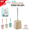 #W08-1192 Rattan Style Toilet Brush Assorted Colors (case pack 12 pcs)