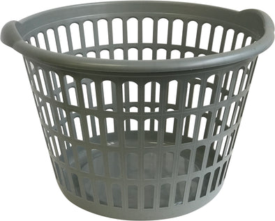 "#W2292 Round Style Laundry Basket 18"" Dia x 11"" H - Hunter Green (case pack 6 pcs)"