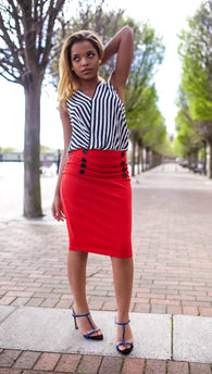 Pencil High Waist Office Skirts