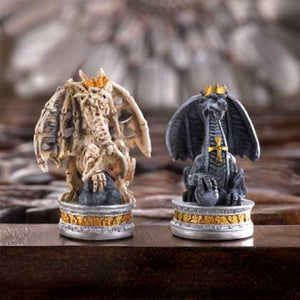 Black Tower Polyresin Dragon Chess Set