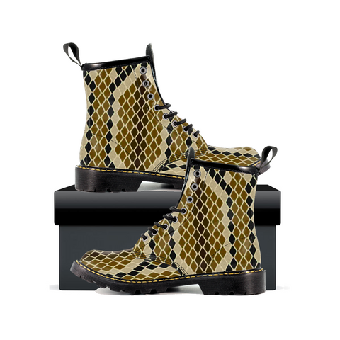 Snake Skin - Womens Leather Boots