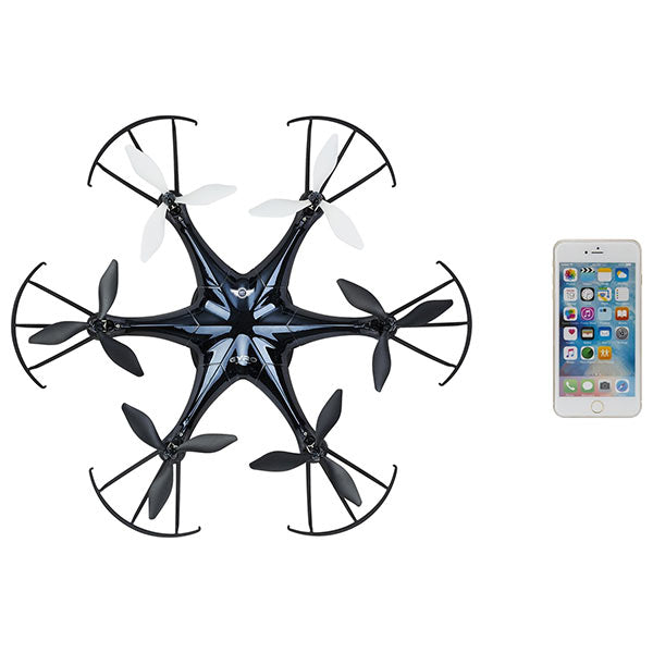 Gpx 6-prop Drone With Wi-fi Camera Live Video with Free Smartphone App