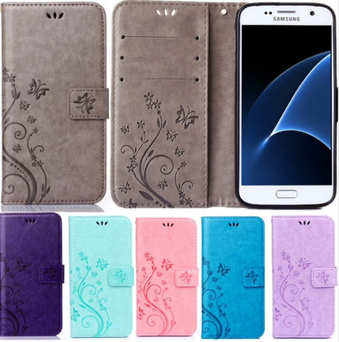 Prime Stand Flip Wallet Leather Cover Soft Case for Samsung galaxy