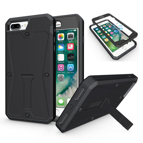 Hybrid Armor Waterproof Shockproof Kickstand Phone Cover For iPhone 8/Plus