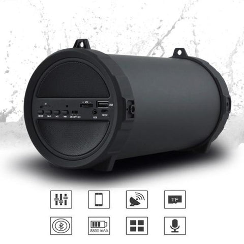 10W Bluetooth Subwoofer  Speaker Wireless 2000mAh Powerful Mp3 player