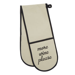 more wine please oven gloves
