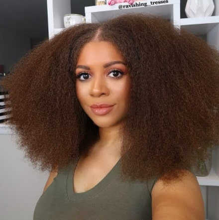 Afrocenchix Easy hairstyles for natural hair faux blowout aka Brushed out @ravishing_tresses