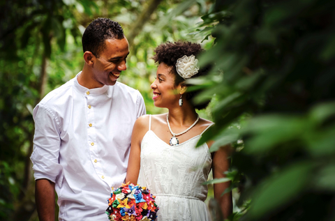 Afrocenchix Wedding Hairstyles for Natural Hair Pexels young black couple getting married in nature