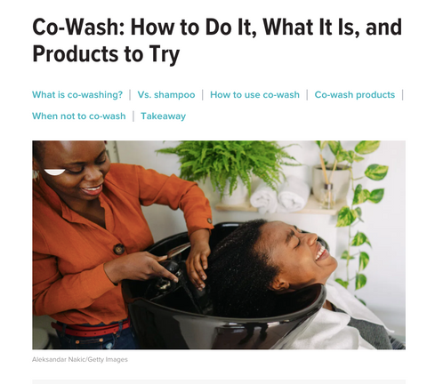 Afrocenchix featured in Healthline Co-Wash- How to Do It, What It Is, and Products to Try