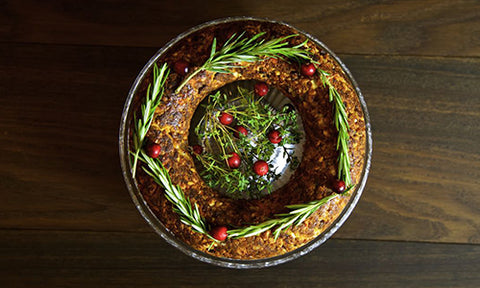 Christmas Nut Roast for healthy afro hair
