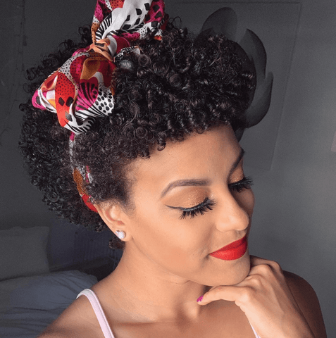 finger coils afro hairstyle short
