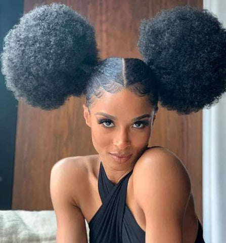 Mini Mouse-inspired hairstyle worn by Ciara Halloween hairstyles Afrocenchix Article