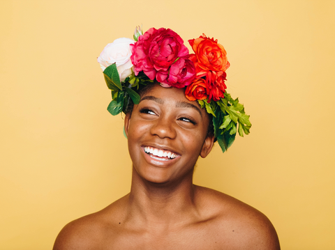 Moana-inspired flower crown Disney hairstyles for natural hair Afrocenchix Article